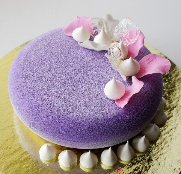 Как сделать велюровое покрытие на торте