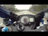 Разгон литрового Suzuki GSX-R K7 до макс. скорости