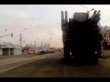 Российский ЗРПК наземного базирования Панцирь С1 на улицах Луганска  08 02 2015