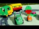 Мультики про машинки: Чак и его друзья! Строим вместе - Железная дорога. Игры для детей.