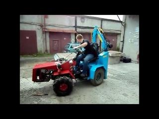 Апгрейд мини трактора МТЗ-132. Upgrading mini tractor MTZ-132.
