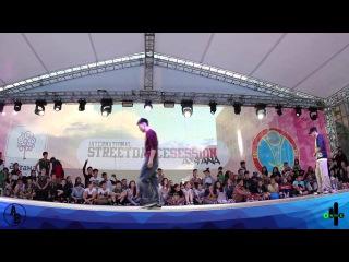 Марат Сандыбаев VS Даурен Айжариков | Popping | ISDS in Astana 2014