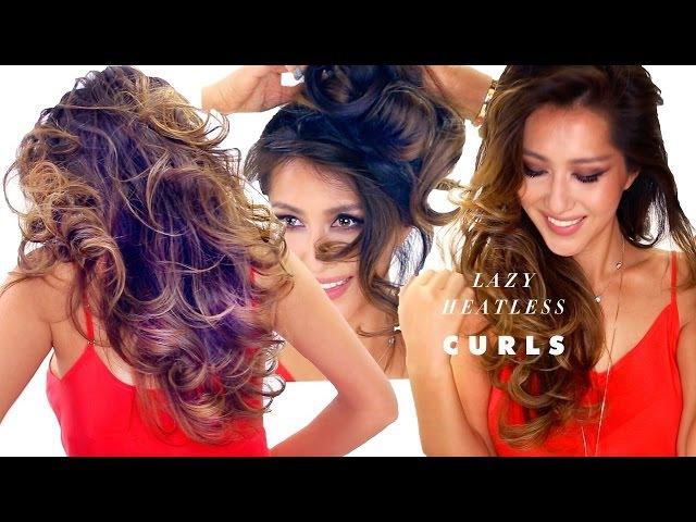 ★ LAZY HEATLESS CURLS Overnight Hairstyle 2 | Easy Waves | School Hair