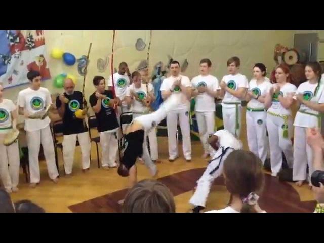 Батизада в группе Capoeira Angola Palmares Russia