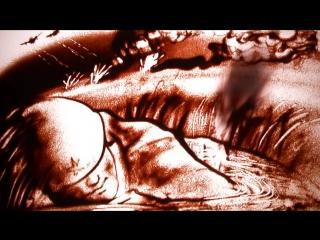 Песочная анимация, Тори Воробьёва - Я убит подо Ржевом (музыка И.Карпов, стихи А.Твардовский)