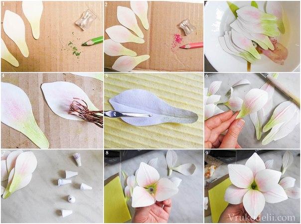 Лилии из бумаги своими руками поэтапно
