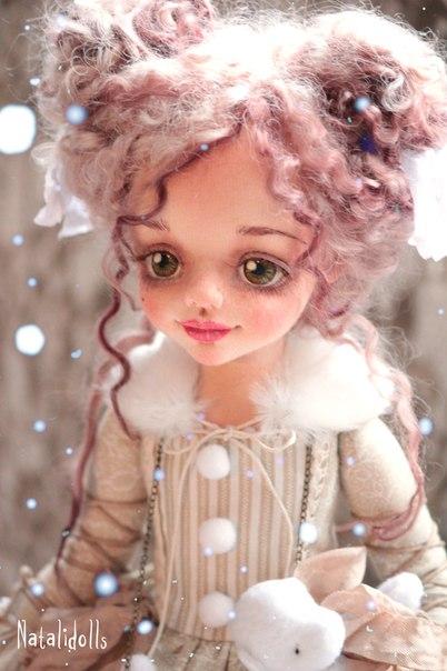Авторские текстильные куклы. (8 фото) - картинка
