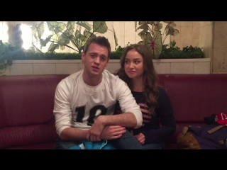 Юлия Маргулис и Александр Соколовский на съемочной площадке сериала Молодежка-3