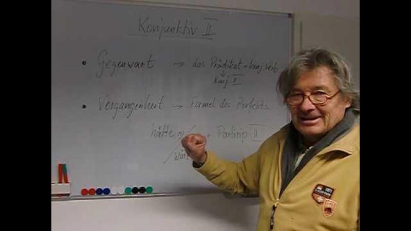 Deutsch lernen Grammatiktafel 19c Konjunktiv II (Zeiten)