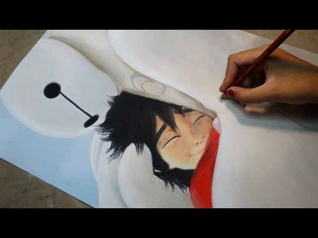Speed Drawing: Hiro and Baymax | Diana Díaz