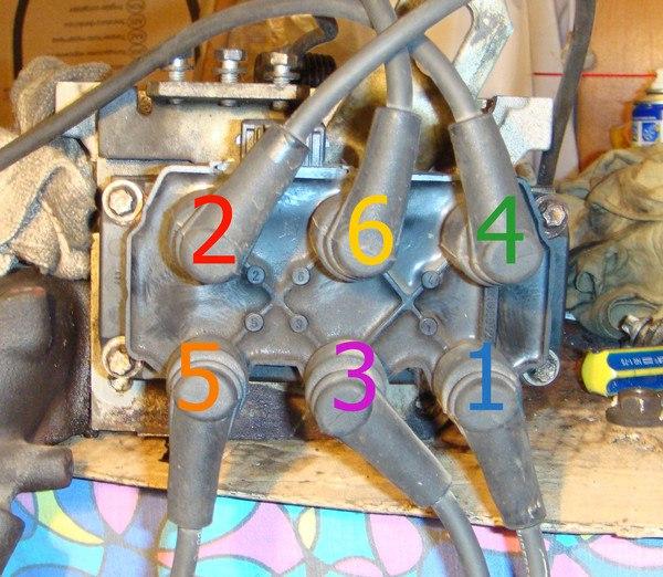 нумерация цилиндров опель омега v6