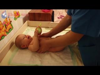 Как делать массаж детям первого года жизни- массаж груди