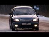 Chevrolet Lanos зимой.