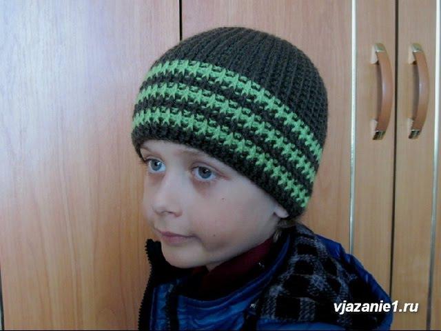 Tubaiwuron Видео вязание крючком шапочки для мальчика