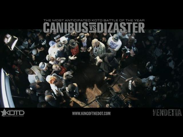 KOTD - Rap Battle - Canibus vs Dizaster - *Co-Hosted by DJ Skee* | Vendetta