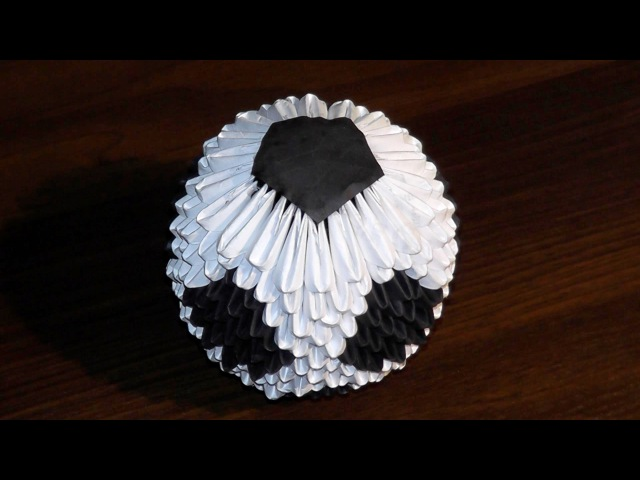 Модульное оригами футбольный мяч схема сборки