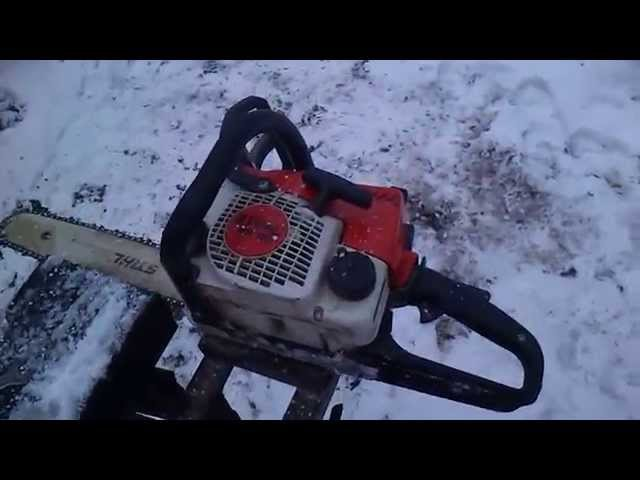 Саморобна пилорама (бензопила STIHL MS 180).Homemade sawmill (chainsaw STIHL MS 180) Review