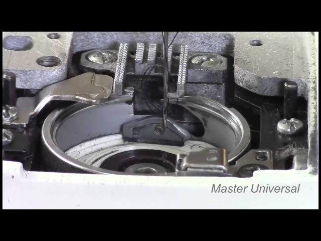 Как выставить игловодитель по отношению к челноку. Видео №110.