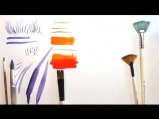 КАКИЕ кисти нужны для рисования и КАК их использовать. Наташа Йорк.