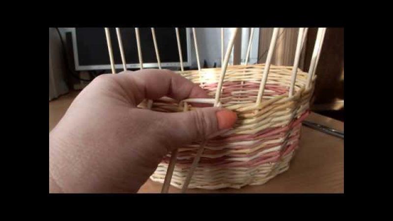 плетение из газет загибка корзины часть №3 мастер класс Como hacer cestas con periódico