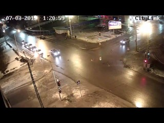 Авария в Петрозаводске 07 03 2015