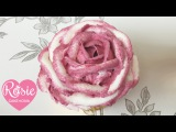 (группа vk.com/LakomkaVK)   How to pipe a two-tone ruffle rose with buttercream (МАСЛЯНЫЙ КРЕМ)  on a cupcake.