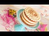 (группа vk.com/LakomkaVK)  Nude Cake de Café y Queso Crema. Как собрать голый торт мастер-класс.
