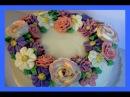 ( LakomkaVK) Торт с цветами из масляного крема мастер-класс. Как сделать цветы из масляного крема на торт.
