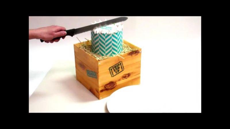 Woodgrain Shipping Crate Birthday Cake!