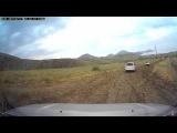 Крым 2015: дорога после дождя в тихой бухте