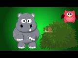 Развивающий мультфильм для самых маленьких. Бегемотик Мотя встретил улитку.