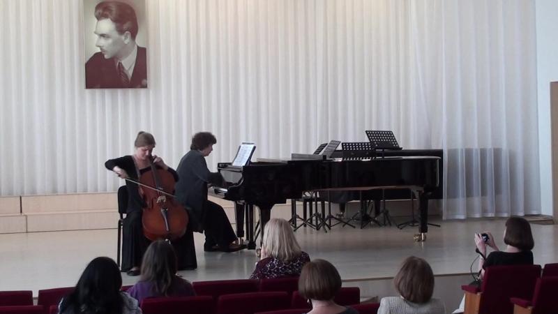 Ксавьер Моцарт.Анданте из виолончельной сонаты. Исп.Наталия Сифун и Светлана Концедалова