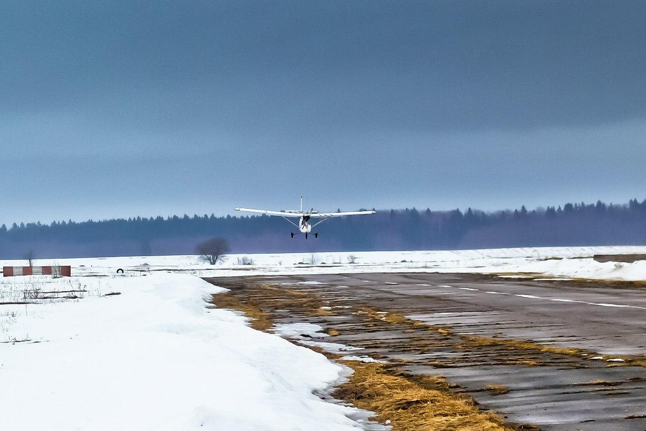 Посадка самолета В2