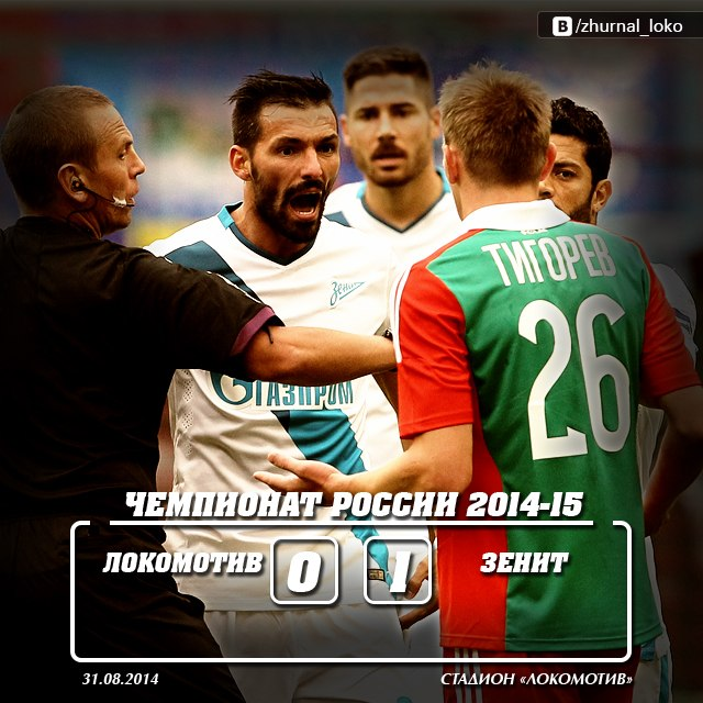 Локомотив - Зенит 0-1