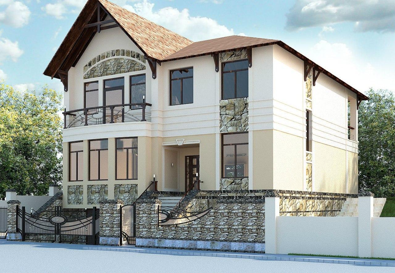 Дизайн фасада домов фото