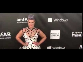 Michelle Rodriguez and Kelly Osbourne at amfAR LA Gala
