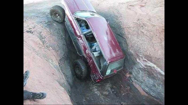 Subaru in Mickeys Hot Tub Moab