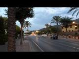 Июльский .вечер (ч.2), красивые облака и пальмы,  Алаурин де ла Торре,  Испания, 17 июля 2015 г