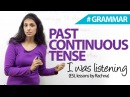 The Past Continuous Tense I was Sleeping Free English Grammar Lesson