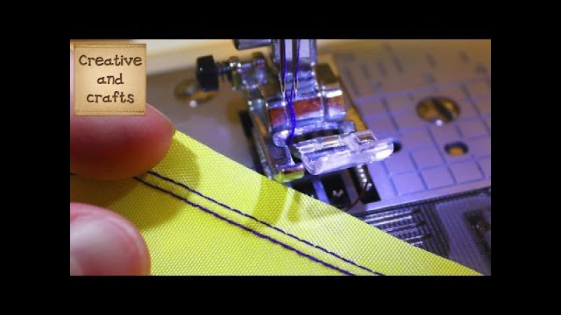 ● Как шить ДВОЙНОЙ ИГЛОЙ - прямая строчка (Машинные строчки)