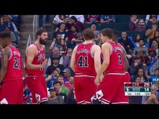 NBA 2015-16. Выстовачные матчи . Чикаго - Буллс - Миннесота Тимбервулс . 10.10.15