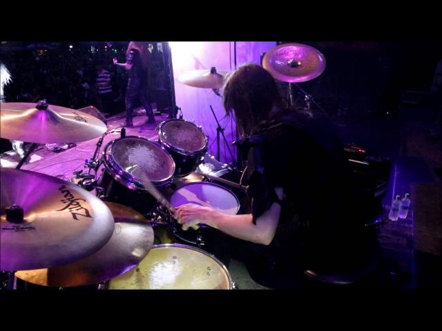 Nils Dominator Fjellström - Dark Funeral - Vobiscum Satanas (Drumcam)