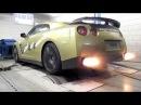 Nissan GT-R Switzer P800 - Dyno run with backfire!