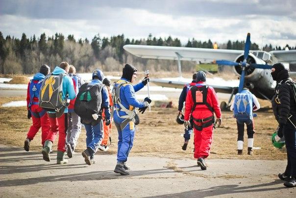 Прыжок с парашютом в тандеме с инструктором - авиаклуб PiterPolet