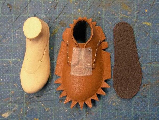 Обувь для кукол своими руками из кожи