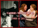"""Carrie: The Musical - """"And Eve Was Weak"""" w Lyrics (1988 vs 2012)"""
