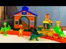 Мультфильмы для детей Поезд динозавров, 9 серия и игрушечные динозавры