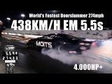 Carro mais veloz do mundo 438km/h em 402m - World's Fastest Doorslammer 274mph