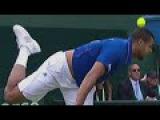 Jo-Wilfried Tsonga serve air-shot against Andy Murray (Davis Cup 2015 airshot)