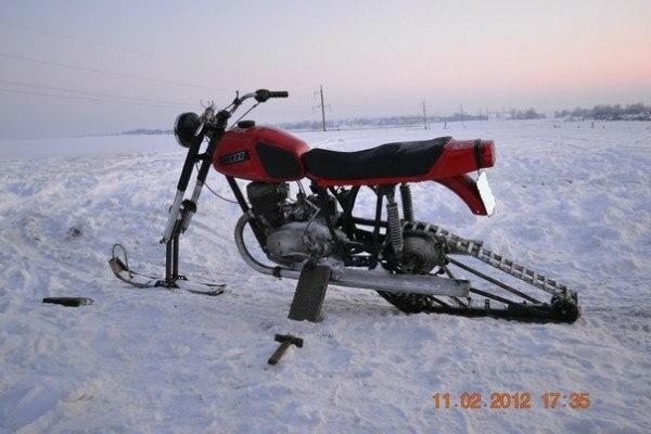Зимний мотоцикл своими руками 10